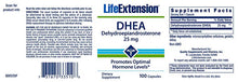 Life Extension DHEA 25 mg Promotes Hormone Levels - 100 Capsules