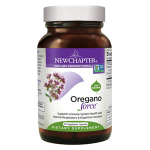 New Chapter Oregano Force for Immune Support Non-GMO - 30 Vegetarian Capsules
