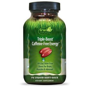 Irwin Naturals Triple-Boost Caffeine-Free Energy 75 - Liquid Softgels