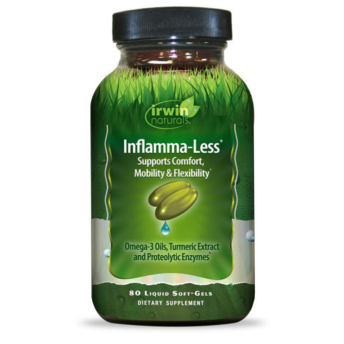 Irwin Naturals Inflammatory Response Inflamma-Less Supports Comfort, Mobility, Flexibility - 80 Liquid Softgels