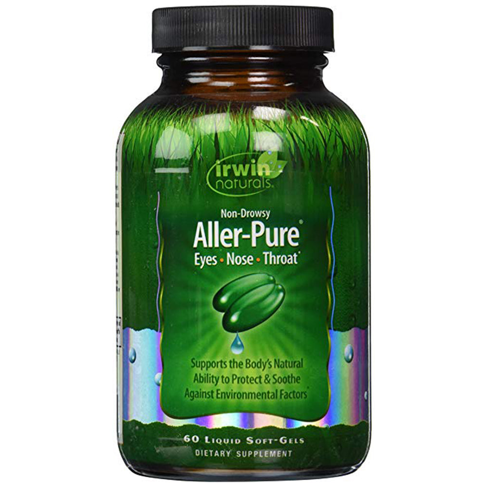 Irwin Naturals Aller Pure, Immune Support, Vitamin C, Omega-3 - 60 Softgels