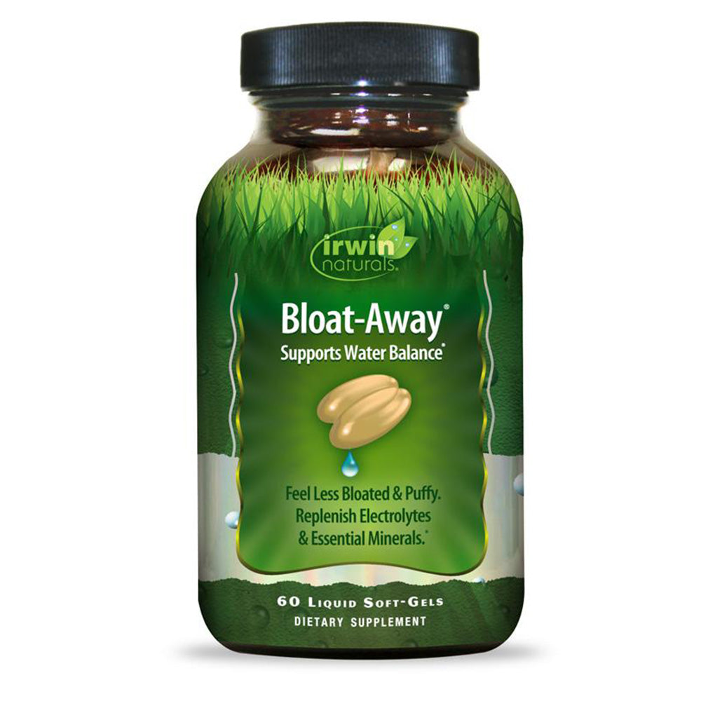 Irwin Naturals - Bloat-Away - 60 ct - Support Water Balance; Feel Less Bloated & Puffy, Replenish Electrolytes & Essential Minerals