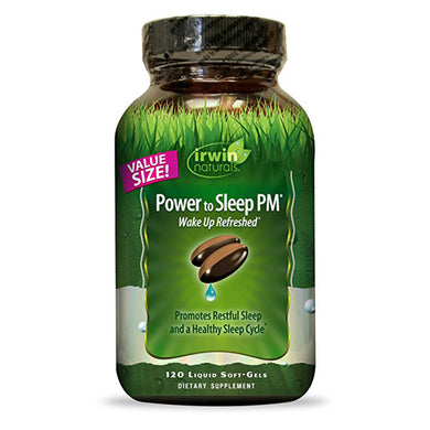 Irwin Naturals Power to Sleep PM, Promotes Restful Sleep Cycle - 120 Liquid Softgels