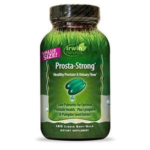 Irwin Naturals Prosta-Strong, Supports Prostate Health and Urinary Flow - 180 Liquid Softgels