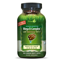 Irwin Naturals Mega B-Complex Vitamin B with Quick Energy MCT's - 60 Softgels