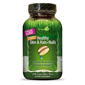 Irwin Naturals Healthy Skin & Hair plus Nails, Promotes Vibrant Shine, Texture & Strength - 120 Liquid Softgels