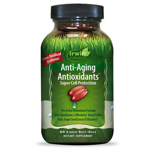 Irwin Naturals Anti Aging Antioxidants Super Cell Protection Pro-Active Antioxidant Formula, 60 Soft-Gels