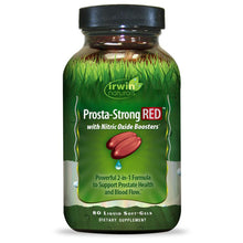 Irwin Naturals Prosta-Strong RED with Nitric Oxide Booster, 2-in-1 Formula to Support Prostate Health and Blood Flow - 80 Liquid Softgels