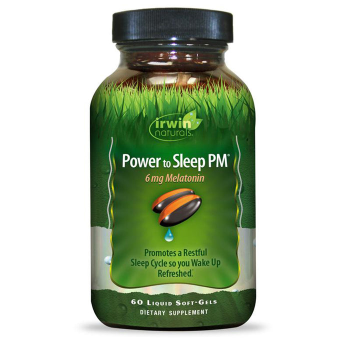 Irwin Naturals Power to Sleep PM 6mg Melatonin Sleep Aid - 60 Liquid Softgels