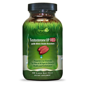 Irwin Naturals Testosterone UP RED with Nitric Oxide Booster 60-Softgels