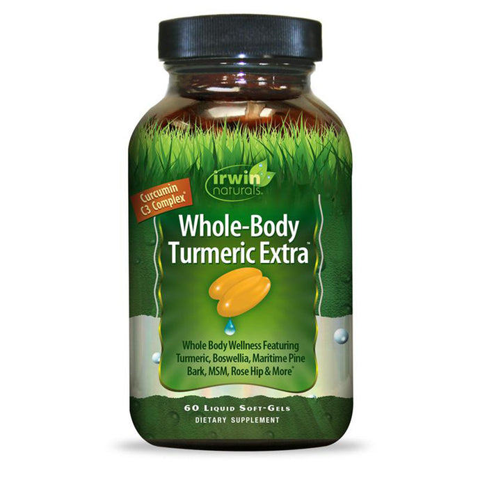 Irwin Naturals Whole-Body Turmeric Extra, Curcumin C3 Complex, 60 - Liquid Softgels
