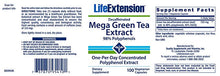 Life Extension Mega Green Tea Extract Decaffeinated - 100 Vegetarian Capsules