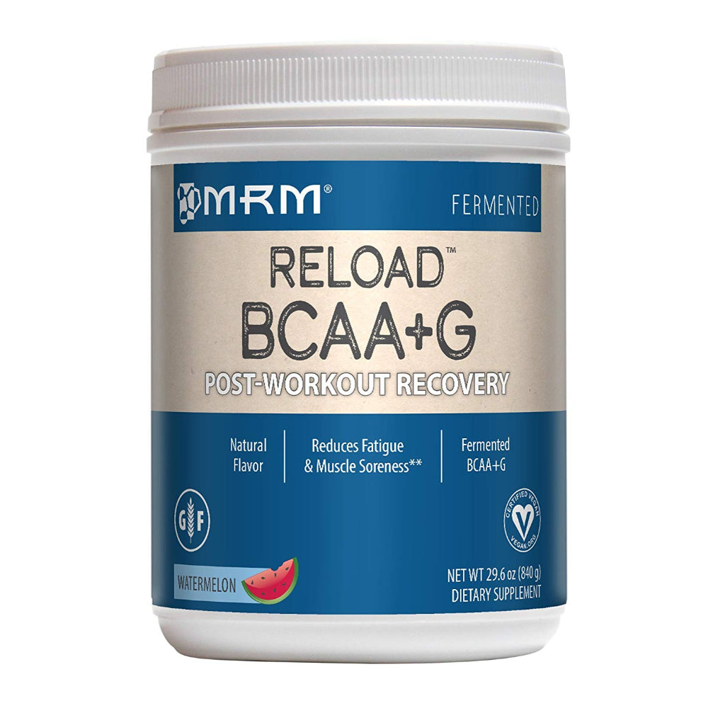 MRM BCAA+G Reload Post-Workout Recovery, Supports Muscle Recovery, 29.6 oz Watermelon Powder