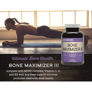 MRM Bone Maximizer III Bone Support Supplement with Vitamin K2 and MK7, 150 Capsules