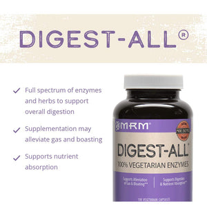 MRM Digest-All Vegetarian Enzymes, Digestive Support Supplement, 100 Vegetarian Capsules