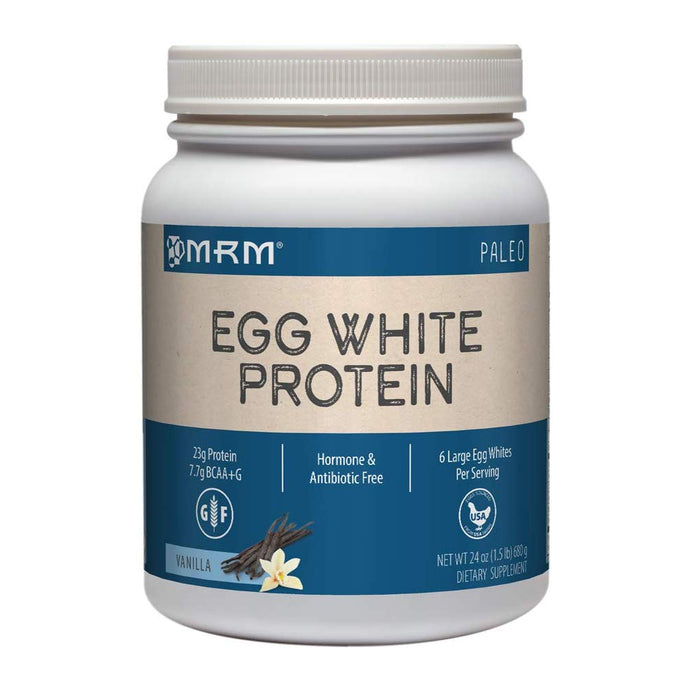 MRM Egg White Protein Powder, Paleo 6 Egg Whites Per Serving, 24 oz Vanilla