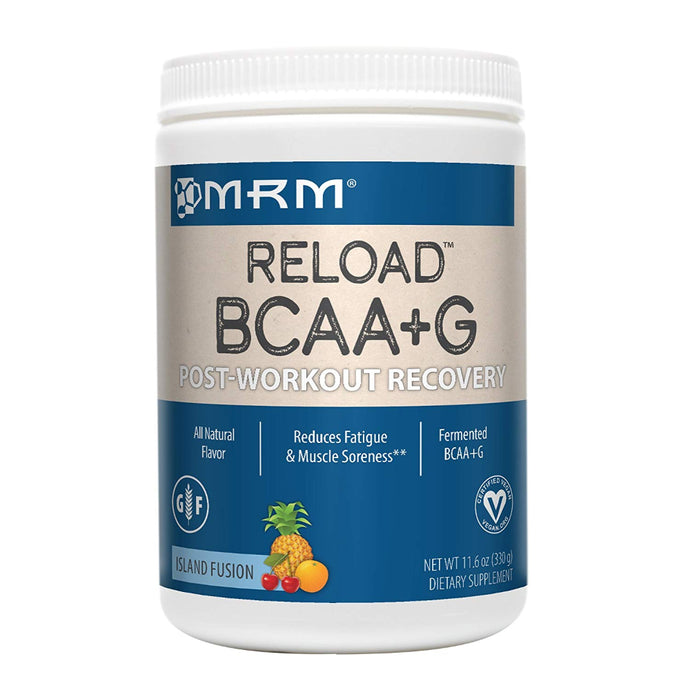 MRM BCAA+G Reload Post-Workout Recovery, Supports Muscle Recovery, 11.6 oz Island Fusion Powder