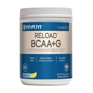 MRM BCAA+G Reload Post-Workout Recovery, Supports Muscle Recovery, 29.6 oz Lemonade Powder