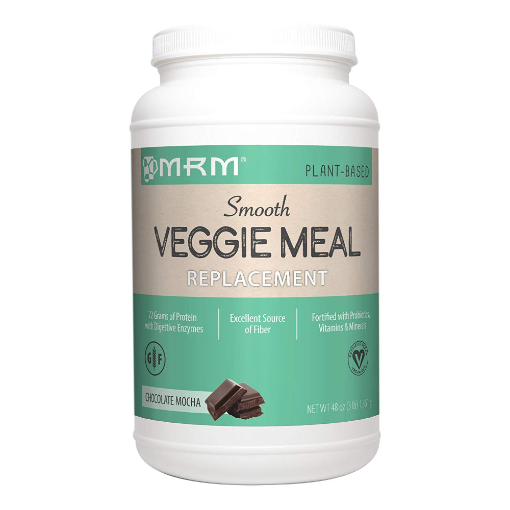 MRM Veggie Meal Replacement, Vegan, Vegetarian, Gluten Free, Non-GMO Verified, Chocolate Mocha, 3 lbs