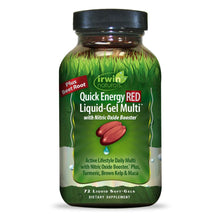 Irwin Naturals Quick Energy RED Liquid-Gel Multi with Nitric Oxide Booster Daily Multivitamin, 72 Liquid Softgels