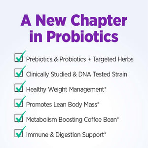 New Chapter Weight Management Probiotic Supplement, Digestive and Immune Health, 30 Vegan Capsules - 0116