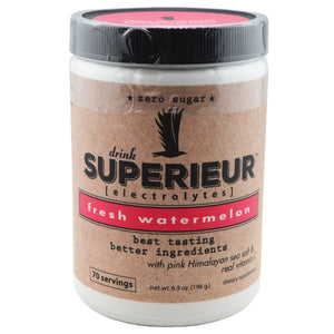 Superieur Electrolyte Mix with Pink Himalayan Sea Salt and Vitamin C, 6.9 Ounce