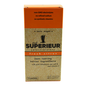 Superieur Electrolyte Mix with Pink Himalayan Sea Salt and Vitamin C 15 Packets