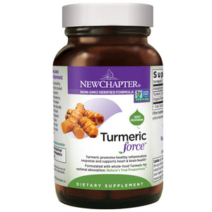 New Chapter Turmeric Supplement for Inflammation Support, Turmeric Force One Daily - 144 Vegetarian Capsules
