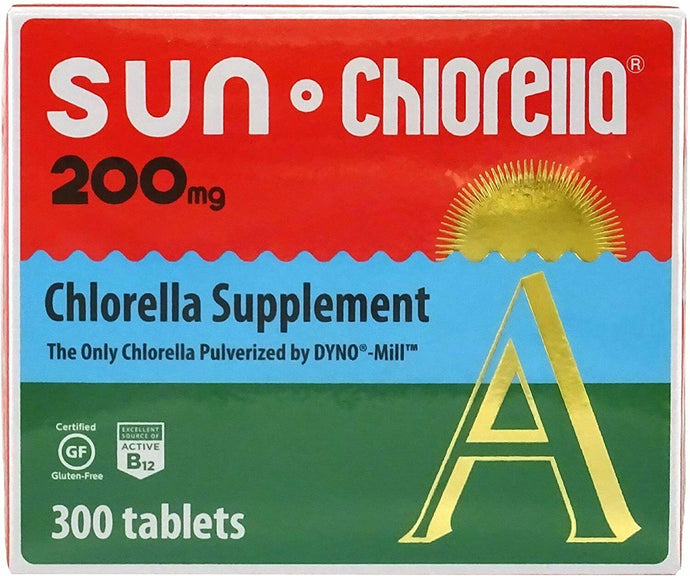 Sun Chlorella A Tablets - Chlorella Supplement Vitamin - 200mg 300 Tablets