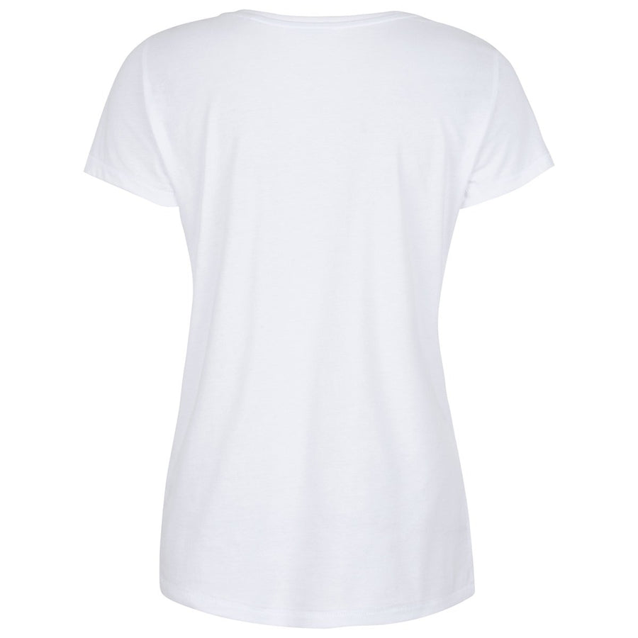 Maddox White Abstract Print T-shirt Front View