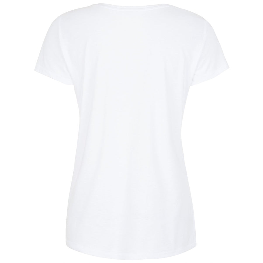 Buxton White Graffiti Print T-shirt Front View