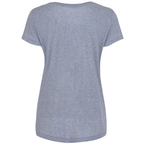 Maltby Grey Abstract Paint Stroke Print T-shirt Back View