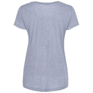 Draycott Grey Abstract Squares Print T-shirt Back View