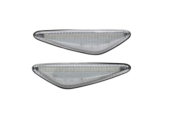 Clear Turn Signal Repitors LED Lights with Sequential Feature