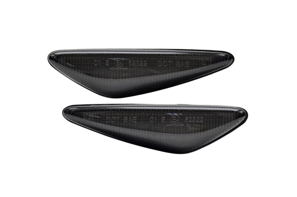 Dark Gray Turn Signal Repitors LED Lights with Sequential Feature
