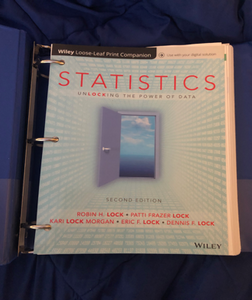 MCS-142-001: Statistics Unlocking the Power of Data Second Edition