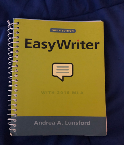 FTS-100-016: Easy Writer with 2016 MLA Sixth Edition