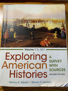 HIS-130 Exploring American Histories, second edition