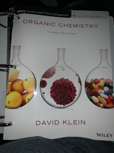CHEM 141- Wiley Loose-Leaf Print Companion Organic Chemistry Third Edition