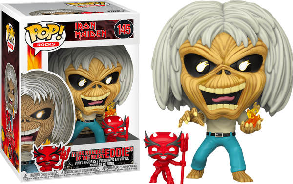 PRE ORDER Pop! Rocks Iron Maiden Eddie Number of the Beast Version Funko Pop! Vinyl Figure