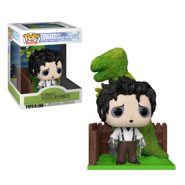 PRE ORDER Edward Scissorhands And Dino Hedge Funko POP Vinyl Movie Moment