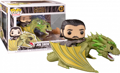 Game of Thrones Jon Snow with Rhaegal Funko Pop! Ride