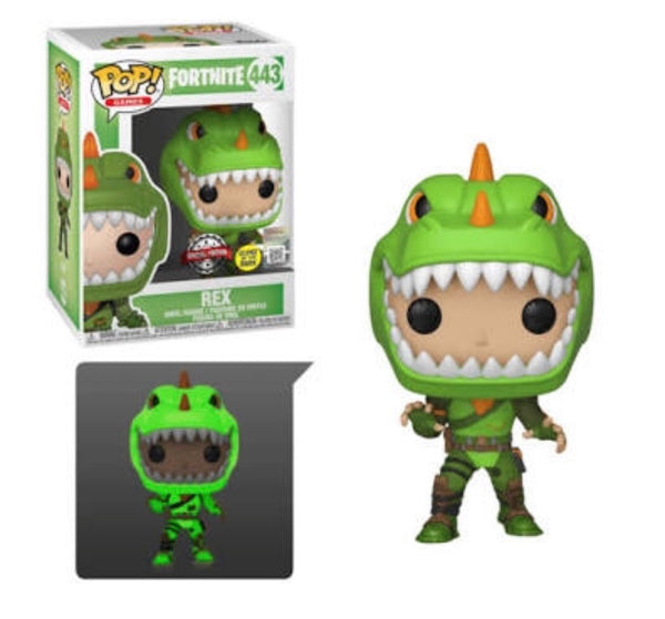 Fortnite Rex Glow In The Dark Funko Pop Vinyl Figure Special Edition #443
