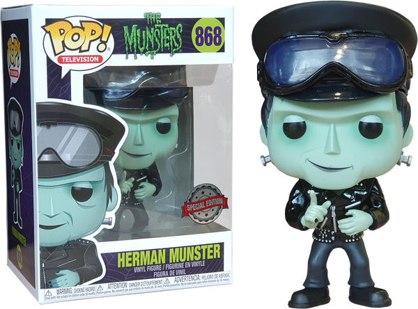 The Munsters Hot Rod Herman Munster Funko Pop Vinyl