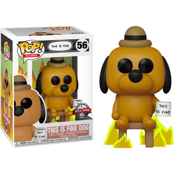 PRE ORDER KC Green This Is Fine Dog Funko Pop! Vinyl Figure