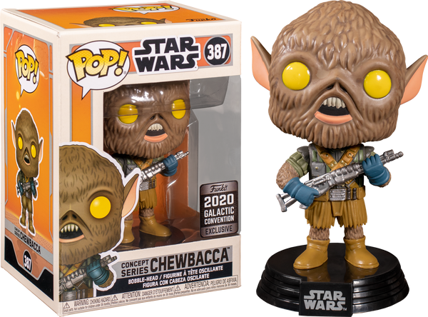 Star Wars Chewbacca Ralph McQuarrie Collection Funko POP! VInyl Figure (2020 Galactic Convention Exclusive )