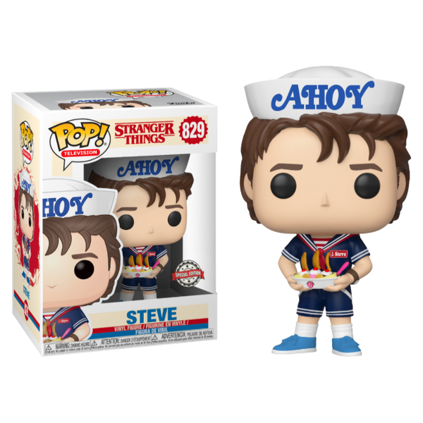 Stranger Things 3 Steve In Scoops Ahoy Outfit Funko Pop Vinyl Figure #829