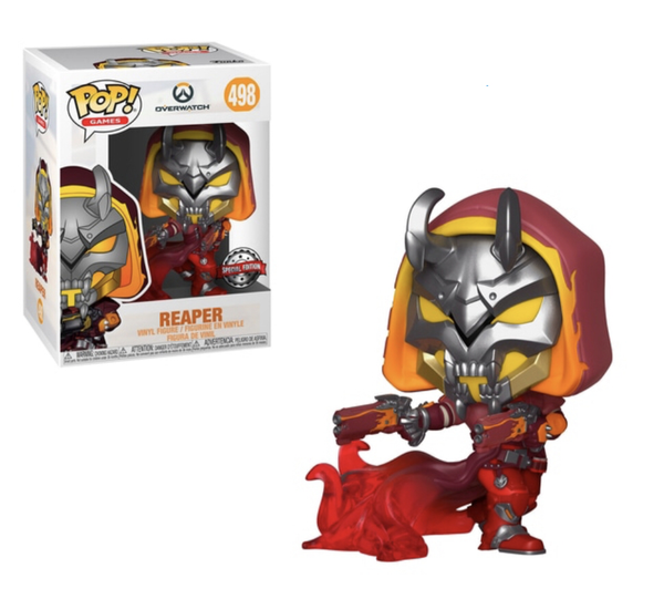 Overwatch Reaper Hell Fire Funko Pop Vinyl Figure Special Edition #498