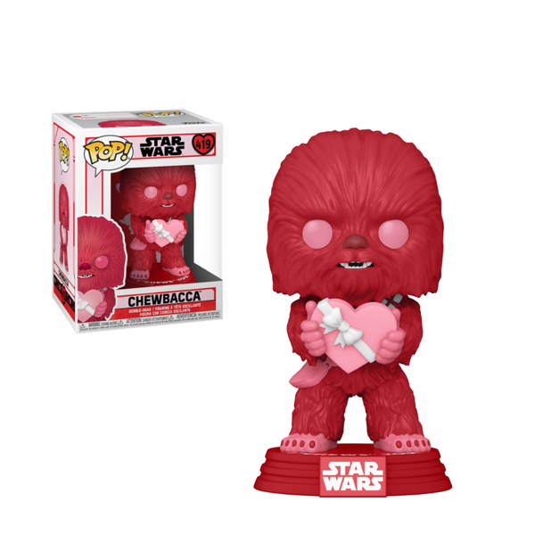 Star Wars Valentines Cupid Chewbacca With Heart Funko Pop Vinyl
