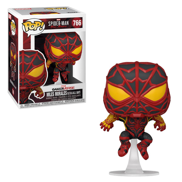 PRE ORDER Marvel Spiderman Miles Morales Striped S.T.R.I.K.E Suit Funko Pop! Vinyl